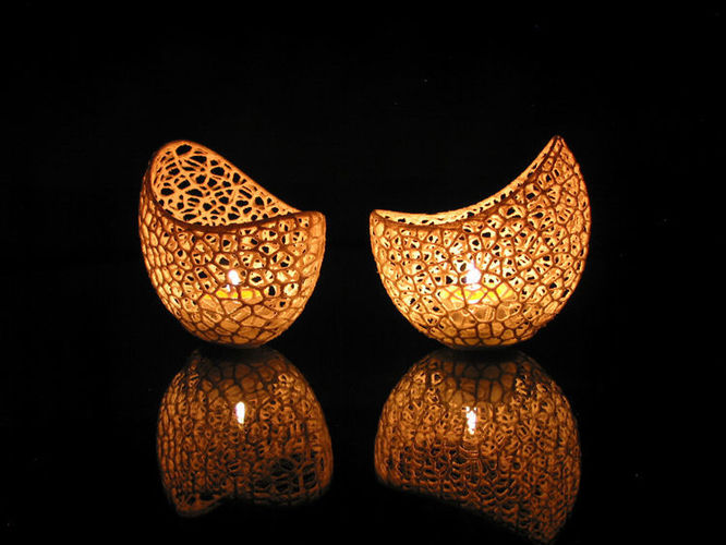 Filigree double wall tealight